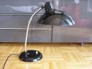 Kaiser Bauhaus Lampe Schwarz Design Ch.Dell Zustand gut