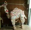Kamel aus Zigarettenschachteln