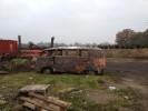 Ausgebrannter VW Bus T1